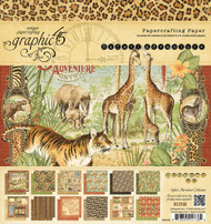 Graphic 45 - Safari Adventure - 8 x 8 Paper Pad