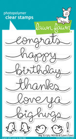 Lawn Fawn - Big Scripty Words Stamp Set (LF-1171)