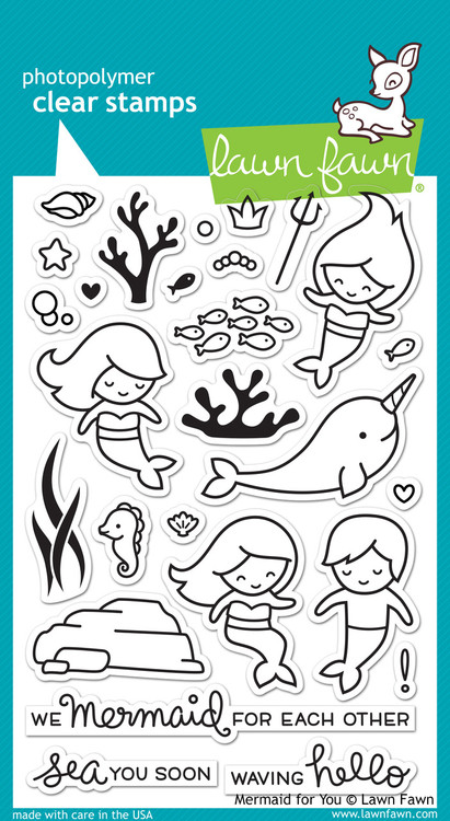 Lawn Fawn - Mermaid For You Stamp Set (LF-1167)