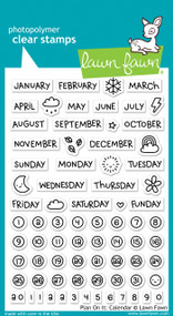 Lawn Fawn - Plan On It: Calendar Stamp Set (LF-1177)