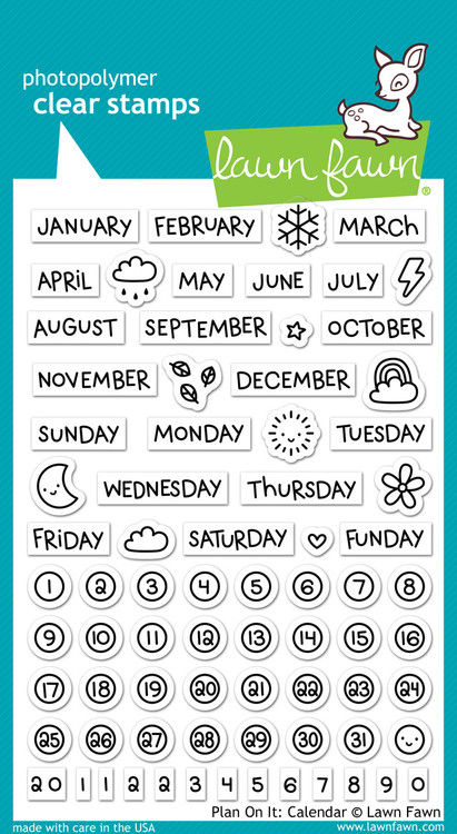 Lawn Fawn - Plan On It: Calendar Stamp Set (LF-1177)