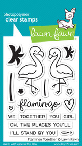 Lawn Fawn - Flamingo Together Stamp Set (LF-1173)