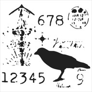 The Crafters Workshop 6 x 6 Stencil - Ravenscape (TCW529)