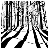 The Crafters Workshop 6 x 6 Stencil - Sunlit Forest (TCW517)