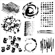 The Crafters Workshop 6 x 6 Stencil - Impressions (TCW502)