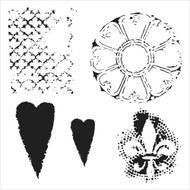 The Crafters Workshop 6 x 6 Stencil - Gothic Romance (TCW457)