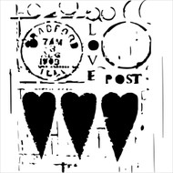 The Crafters Workshop 6 x 6 Stencil - Love Post (TCW455)
