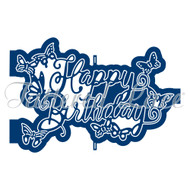 Tattered Lace Trade (D1288) Ornamental Happy Birthday