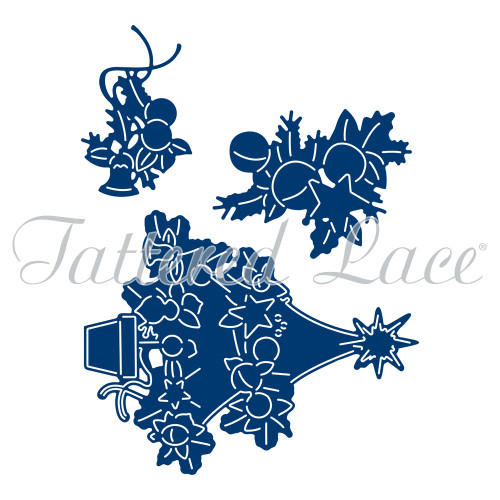 Tattered Lace Essentials Die and Stamp Set - Magic of Christmas Tree (ETL344)