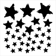 The Crafters Workshop 6 x 6 Stencil - Star Fall (TCW417)