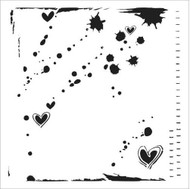 The Crafters Workshop 6 x 6 Stencil - Confetti (TCW345)