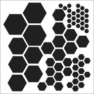 The Crafters Workshop 6 x 6 Stencil - Hexagons (TCW324)
