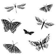 The Crafters Workshop 6 x 6 Stencil - Mariposas (TCW260)