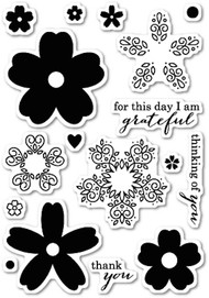 Poppystamps - Flourish Blooms - Clear Stamp Set (PS-CL427)