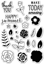 Poppystamps - Flower Patch - Clear Stamp Set (PS-CL428)