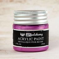 Prima Marketing - Art Alchemy - Acrylic Paint - Metallique Pink Blush 1.7oz (PM-963217)