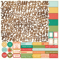 Photoplay - Fresh Picked - 12 x 12 Alphabet Sticker Sheet