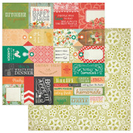 Photoplay - Fresh Picked - 12 x 12 Tags Scrapbook Paper