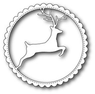 MB-99502 Reindeer Scalloped Circle Frame