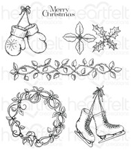 Heartfelt Creations Celebrate The Season - Cling Stamp Set (HCPC-3747)