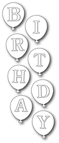 Birthday Balloons craft die (PS-1470)