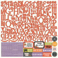Photoplay - Bootiful - 12 x 12 Alpha Sticker Sheet (BT2313)