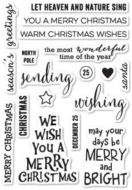 Poppystamps - Christmas Greetings - Clear Stamp Set (PS-CL439)