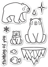 Poppystamps - Polar Bear Fun - Clear Stamp Set (PS-CL434)