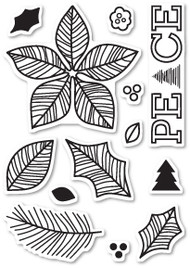 Poppystamps - Poinsettia Peace - Clear Stamp Set (PS-CL440)