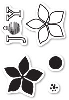 Poppystamps - Poinsettia Joy - Clear Stamp Set (PS-CL441)