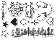 Poppystamps - Dreaming of a White Christmas - Clear Stamp Set (PS-CL442)