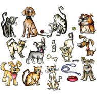 Sizzix Framelits by Tim Holtz - Mini Crazy Cats & Dogs