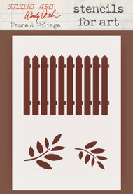 Wendy Vecchi Stencils For Art - Fence & Foliage (WVSFA 043)