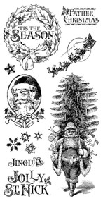 Graphic 45 - St Nicholas - Cling Stamp Set 1 (ICO371)
