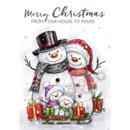 Wild Rose Studio Clear Stamp - Snowman Family (CL496)
