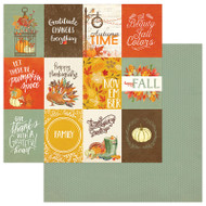 Photoplay - Falling Leaves - 12 x 12 Cards 3 x 4 Scrapbook Paper
