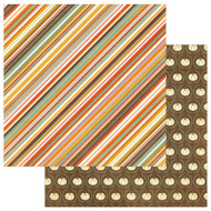 Photoplay - Falling Leaves - 12 x 12 Autumn Stripe Scrapbook Paper