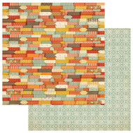 Photoplay - Falling Leaves - 12 x 12 Autumn Color Scrapbook Paper