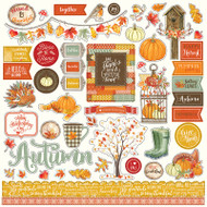Photoplay - Falling Leaves - 12 x 12 Element Sticker Sheet