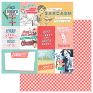 Photoplay - Slightly Sassy - 12 x 12 Sassy Cards Scrapbook Paper
