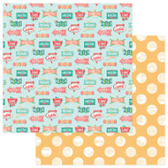 Photoplay - Slightly Sassy - 12 x 12 Eat At Joes Scrapbook Paper