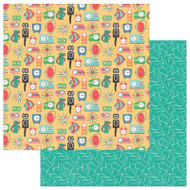 Photoplay - Slightly Sassy - 12 x 12 Tick Tock Scrapbook Paper