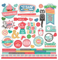 Photoplay - Slightly Sassy - 12 x 12 Element Sticker Sheet