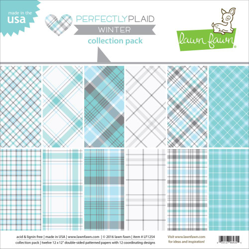 Lawn Fawn - Collection Pack - Winter - Perfectly Plaid (LF1254)
