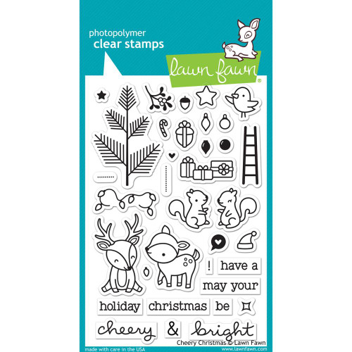 Lawn Fawn - Rubber Stamps - Cheery Christmas (Preorder) (LF1216)