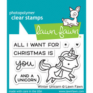 Lawn Fawn - Rubber Stamps - Winter Unicorn (Preorder) (LF1218)