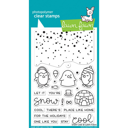 Lawn Fawn - Rubber Stamps - Snow Cool (Preorder) (LF1226)