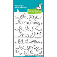 Lawn Fawn - Rubber Stamps - Winter Big Scripty Words (Preorder) (LF1228)
