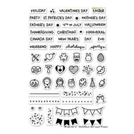 Lawn Fawn - Rubber Stamps - Plan On It Holidays (Preorder) (LF1231)