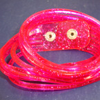 Jelly Type DBL Wrap Around Glitter Bracelet Hot Pink 12 per pk .50